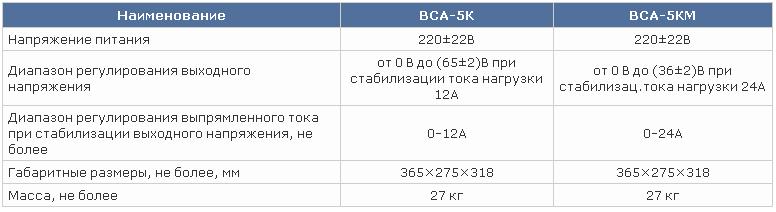 Выпрямитель ВСА - 5к схема